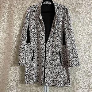 Duster Jacket Black & White Plus Size 1X